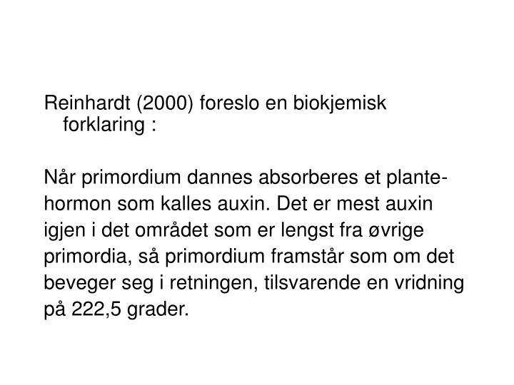Reinhardt (2000) foreslo en biokjemisk forklaring :