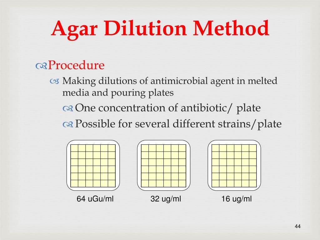 Agar Dilution Method