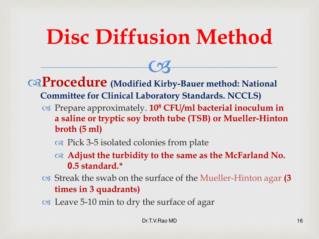 Disc Diffusion Method