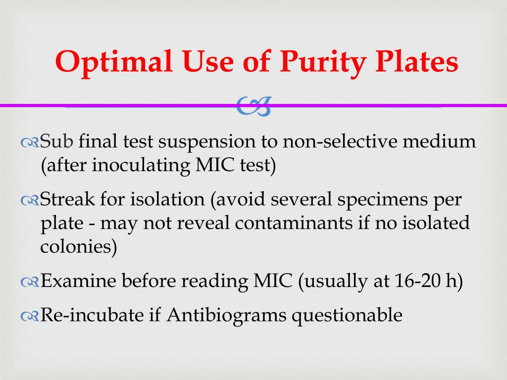 Optimal Use of Purity Plates