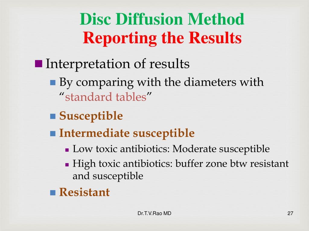 Disc Diffusion