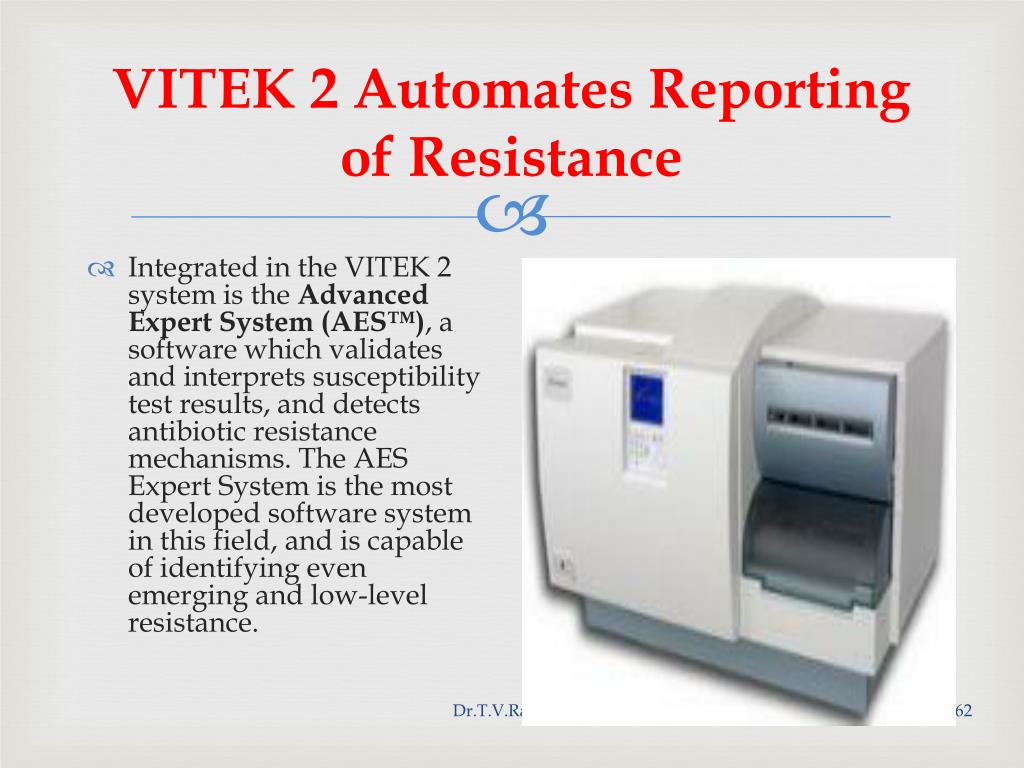 VITEK 2 Automates Reporting of Resistance