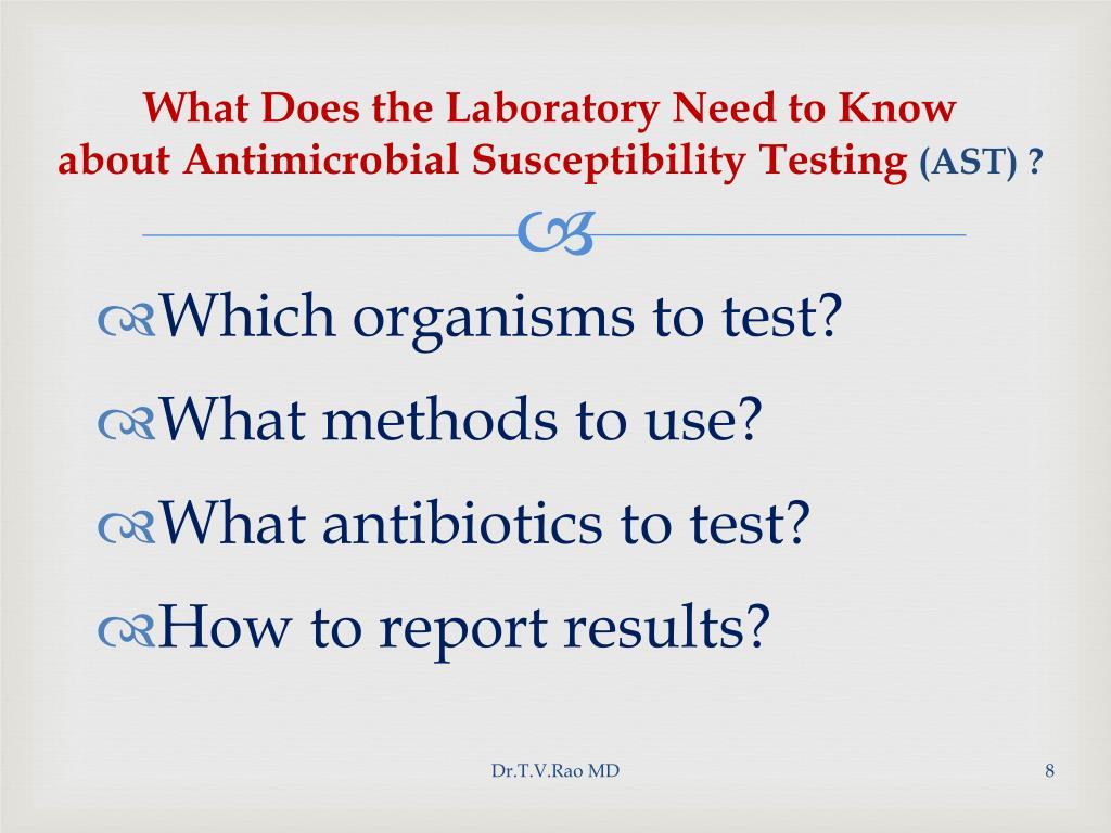 What Does the Laboratory Need to Know