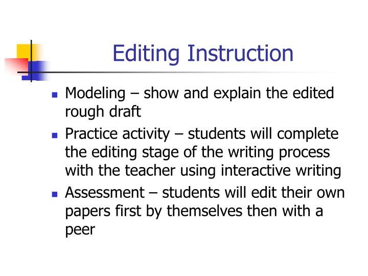 Editing Instruction
