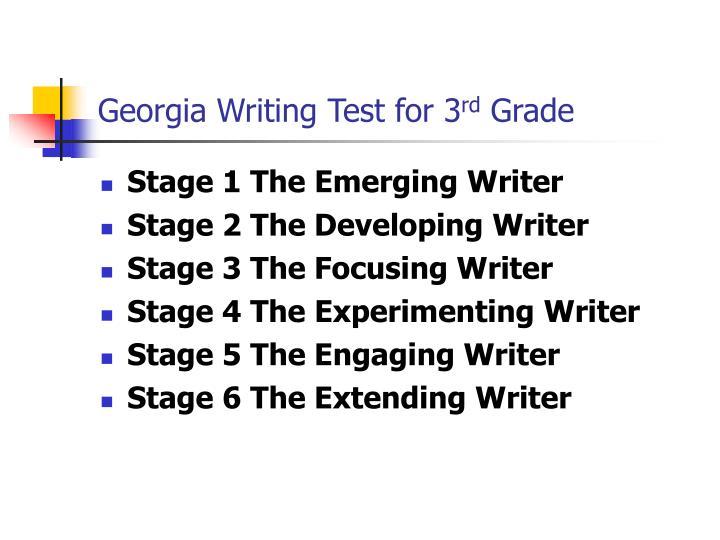 Georgia Writing Test for 3