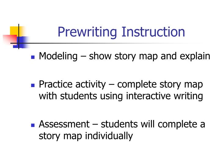Prewriting Instruction