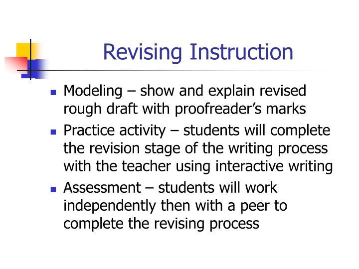 Revising Instruction