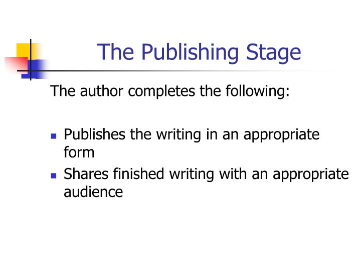 The Publishing Stage