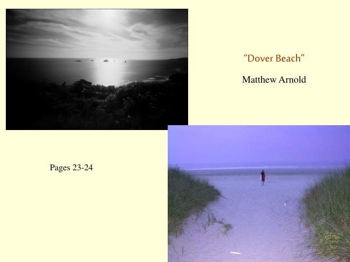 """""""Dover Beach"""""""