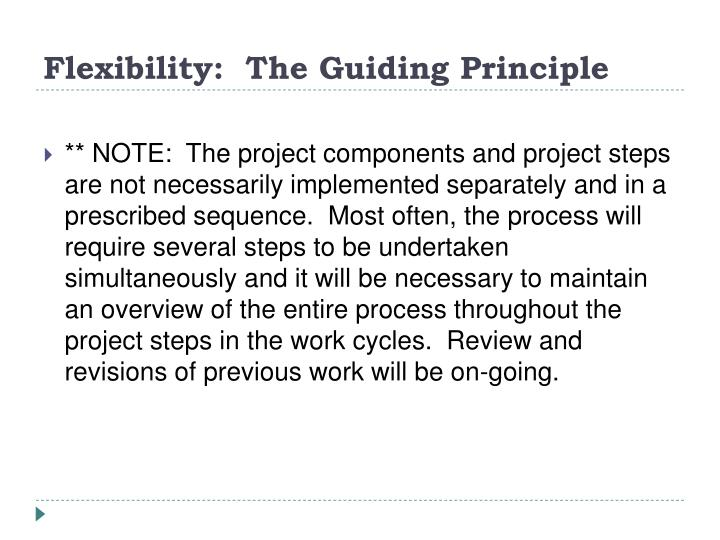 Flexibility:  The Guiding Principle