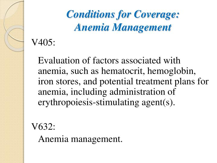 Conditions for Coverage: