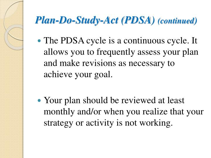 Plan-Do-Study-Act (PDSA)