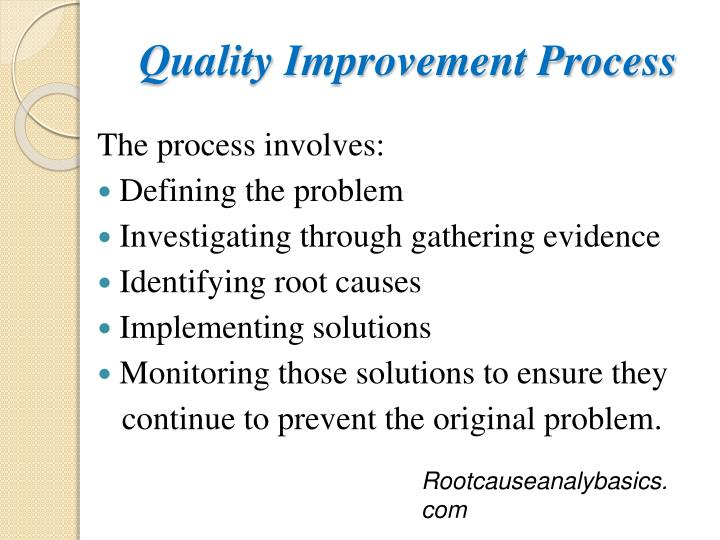 Quality Improvement Process