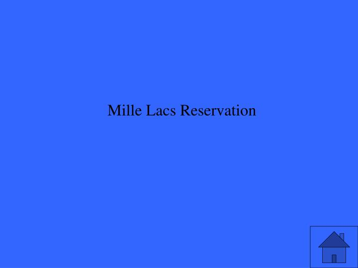 Mille Lacs Reservation