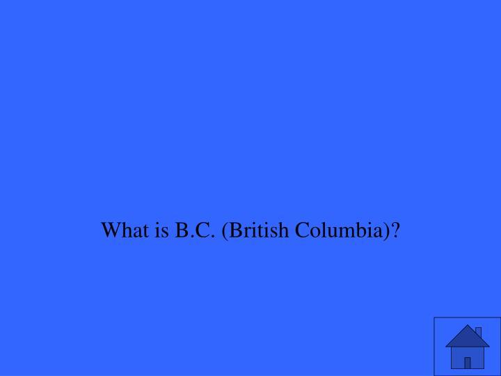 What is B.C. (British Columbia)?