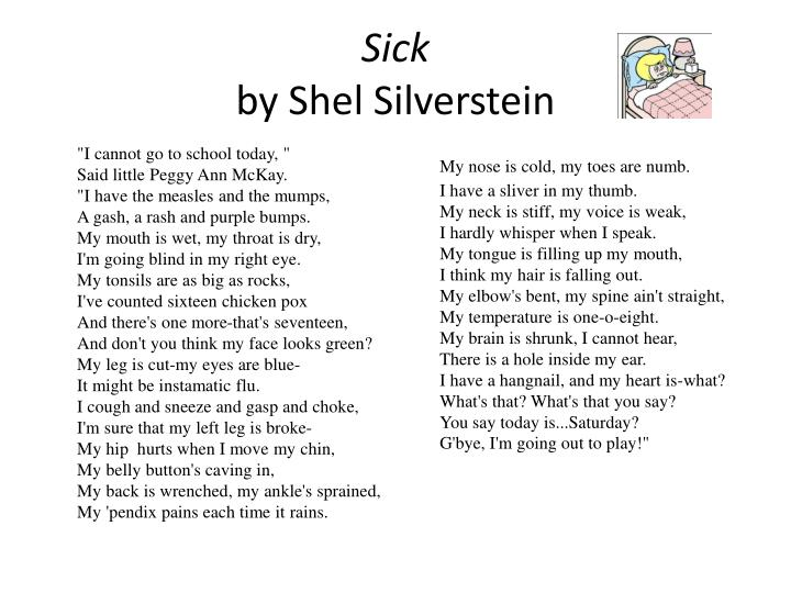 PPT - Sick by Shel Silverstein PowerPoint Presentation ...