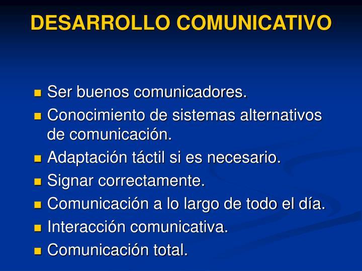 DESARROLLO COMUNICATIVO