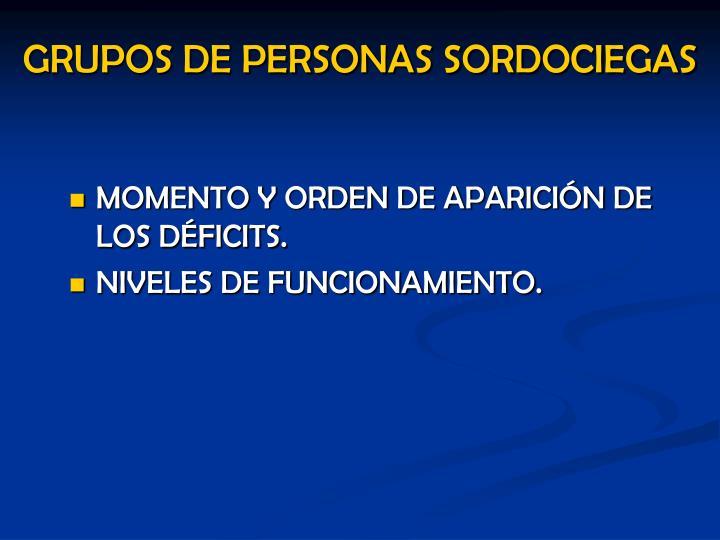 GRUPOS DE PERSONAS SORDOCIEGAS