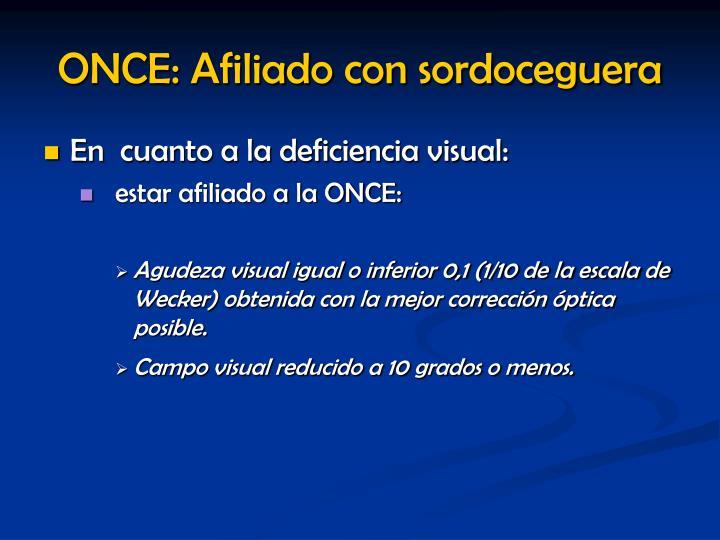 ONCE: Afiliado con sordoceguera