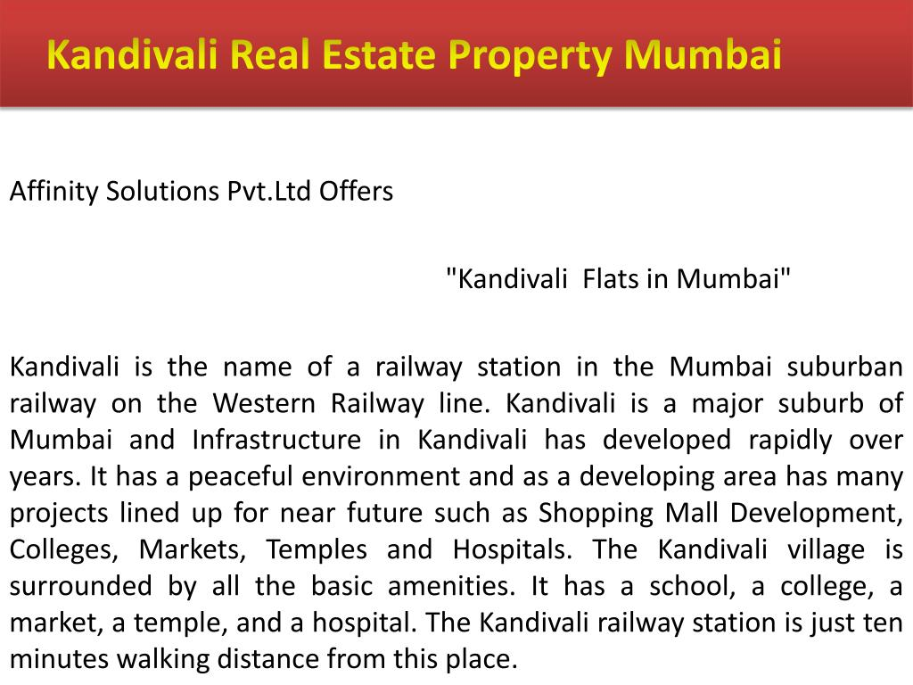 Kandivali Real Estate Property Mumbai