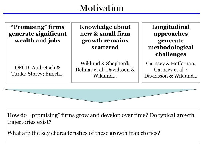 """How do  """"promising"""" firms grow and develop over time? Do typical growth trajectories exist?"""