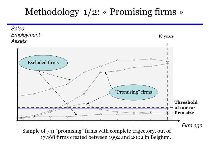 Methodology  1/2: «Promising firms»