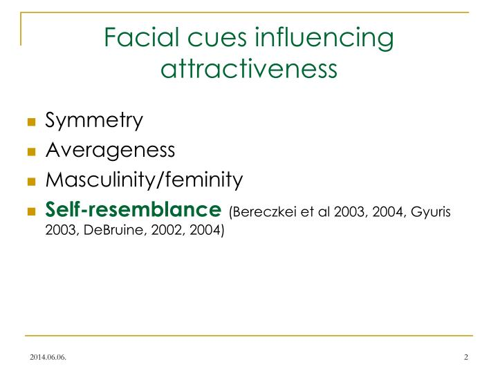 Facial cues influencing attractiveness