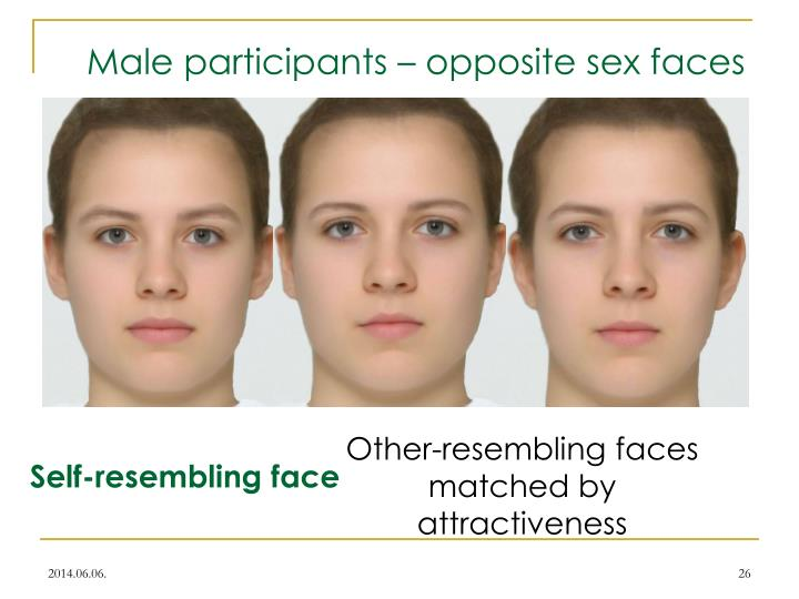 Male participants – opposite sex faces