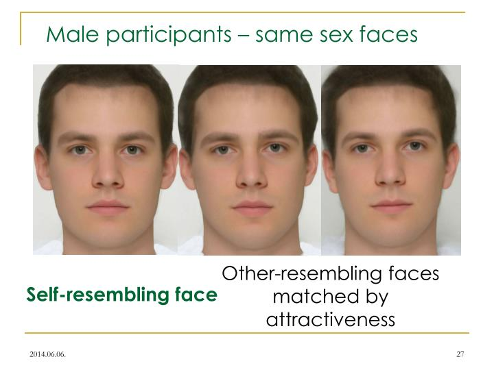 Male participants – same sex faces