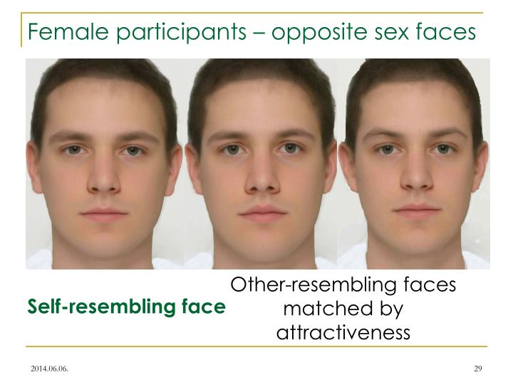 Female participants – opposite sex faces