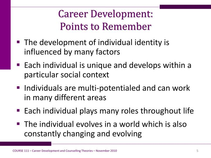 Career Development: