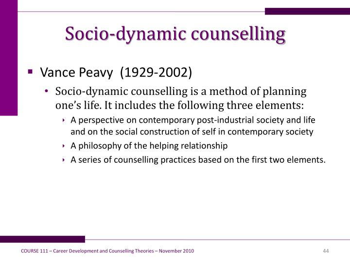 Socio-dynamic counselling