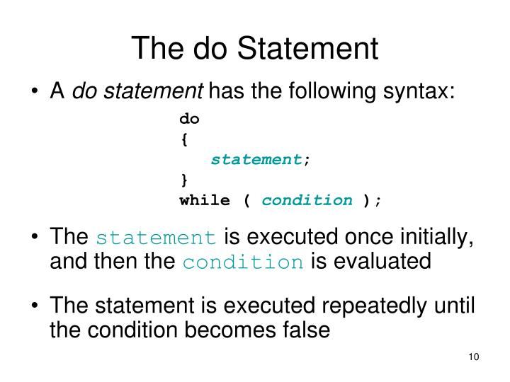 The do Statement
