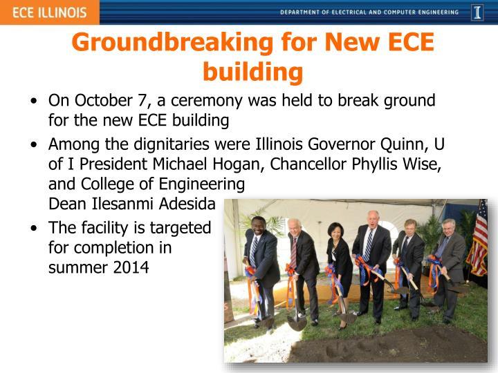 Groundbreaking for New ECE building