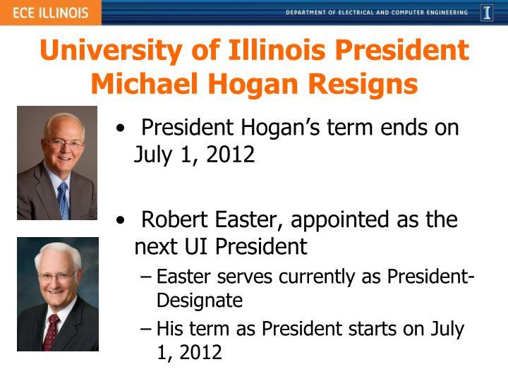 University of Illinois President Michael Hogan Resigns