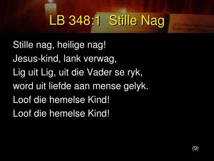 LB 348:1  Stille Nag