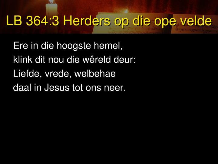 LB 364:3 Herders op die ope velde