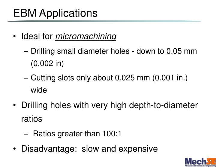 EBM Applications