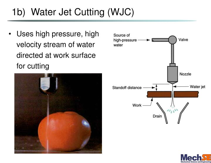 1b)  Water Jet Cutting (WJC)