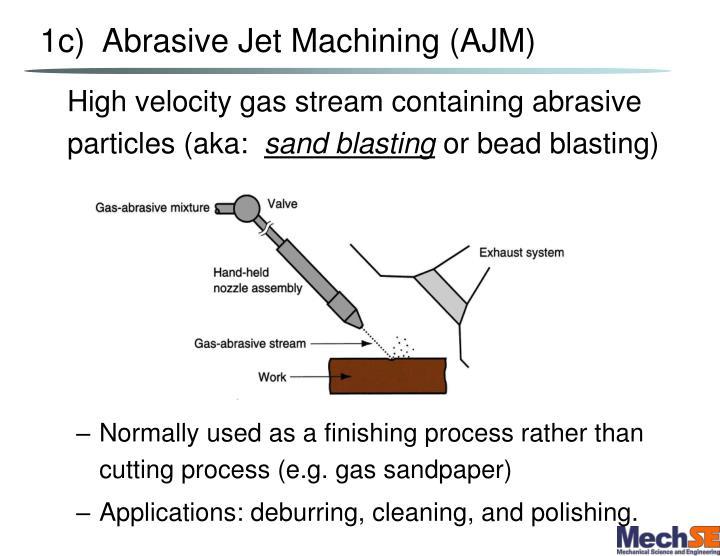 1c)  Abrasive Jet Machining (AJM)