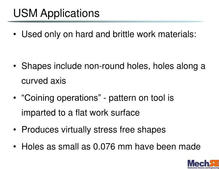 USM Applications