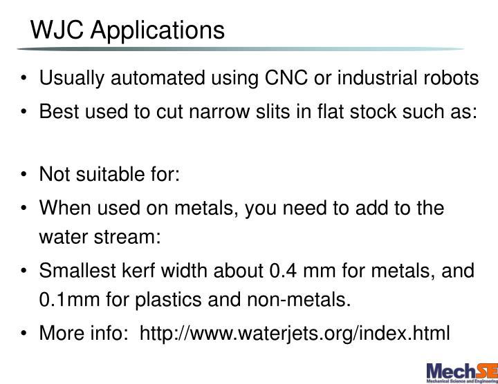 WJC Applications