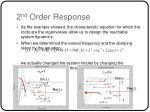 2 nd order response