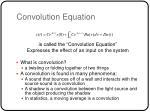 convolution equation