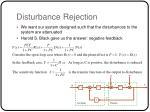 disturbance rejection