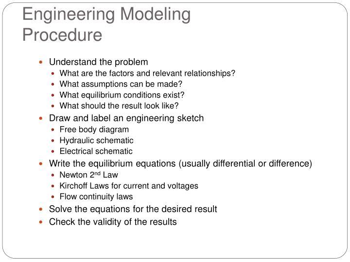 Engineering Modeling Procedure