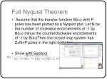full nyquist theorem