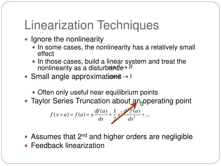 Linearization Techniques