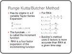runge kutta butcher method