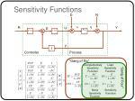sensitivity functions